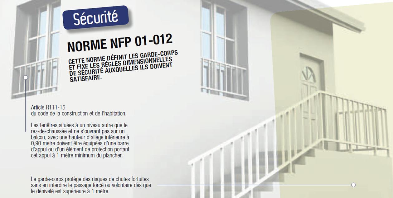 normes garde corps fenetre normes hauteur et pour les balustrades et gardecorps good norme. Black Bedroom Furniture Sets. Home Design Ideas